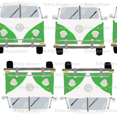 Green Hippie Bus