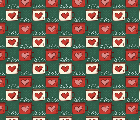 Happy Camper mMugs-green fabric by jaymehennel on Spoonflower - custom fabric