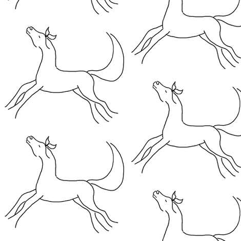 Horse_Pencil_Sketch_300dpi_-20_30_001-ch fabric by ka-doodle on Spoonflower - custom fabric