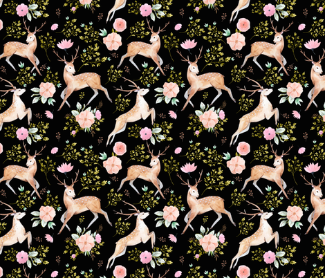 "8"" Denver - Black fabric by shopcabin on Spoonflower - custom fabric"