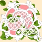 Gypsy rose lace peach