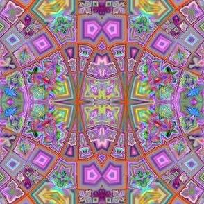 Lilac Garden Fractal Mosaic