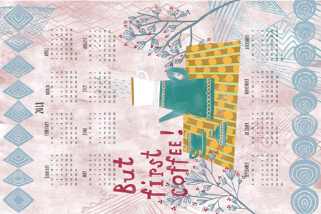 teatowelcoffeecalendar fabric by const_artist on Spoonflower - custom fabric