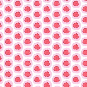 Light Pink Hot Pink Dots Spots Drops Spring _ Miss Chiff Designs
