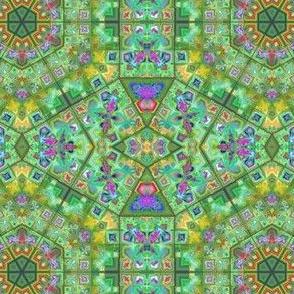 Green Fractal Mosaic
