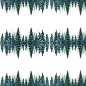 Misty Pines Tea Towel