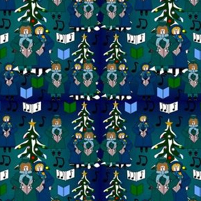 Christmas Carolers Fabric Collection