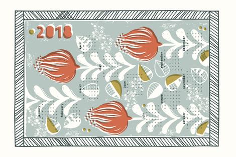 Block Print Tea Towel fabric by mintedtulip on Spoonflower - custom fabric