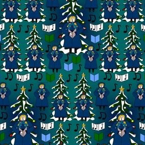 Christmas Caroler Caroling Gertie Fabric Collection