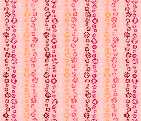 Falling Flowers in  Pink fabric by paula_ohreen_designs on Spoonflower - custom fabric