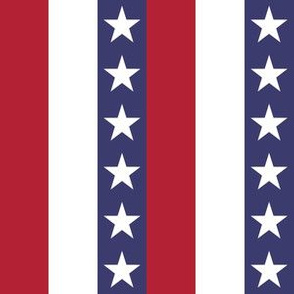 One Inch Vertical Stars and Stripes