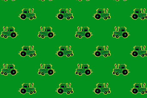 Tractor fabric by soft_summer_rain on Spoonflower - custom fabric