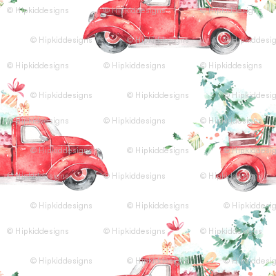 Christmas Vintage Truck and Presents