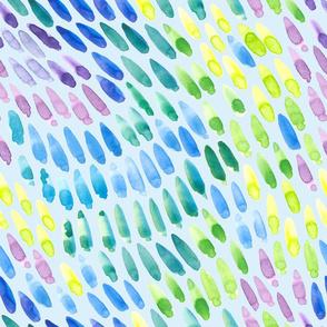 watercolor swipes on blue