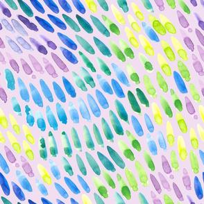 watercolor swipes on purple