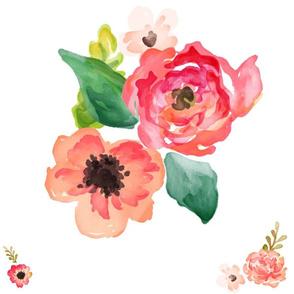 """18"""" Floral Dreams Original / More Scattered"""