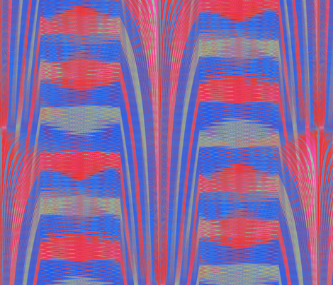 Imprecise Endeavors (Blue) fabric by david_kent_collections on Spoonflower - custom fabric