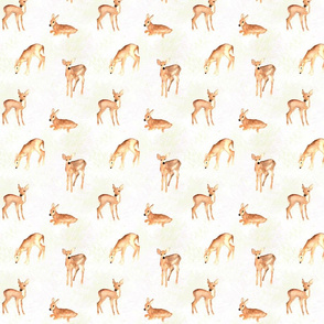 woodland fawns on taupe texture
