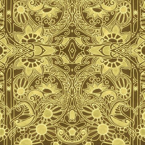 Miss Kitty Runs a High Class Saloon fabric by edsel2084 on Spoonflower - custom fabric