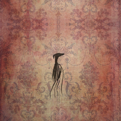 fleet footed greyhound, red fabric by nikitasaami on Spoonflower - custom fabric