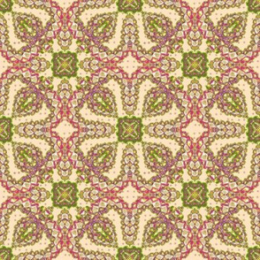 Pink and Green Christmas Kaleidoscope