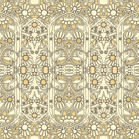 The Church of the Droopy Daisy fabric by edsel2084 on Spoonflower - custom fabric
