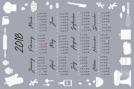 Bakers_2018_calendar_tea_towel-02 fabric by tinastextiles on Spoonflower - custom fabric