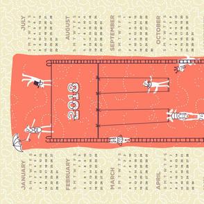 2018 calendar_circus dogs mellow