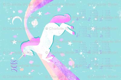 2018 unicorn calendar