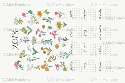 2018 Wildflower Calendar