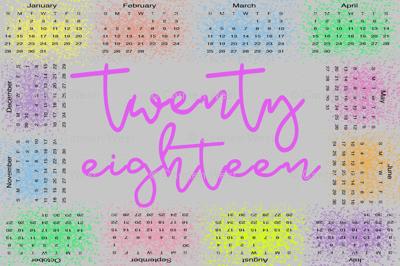 twentyeighteen calendar