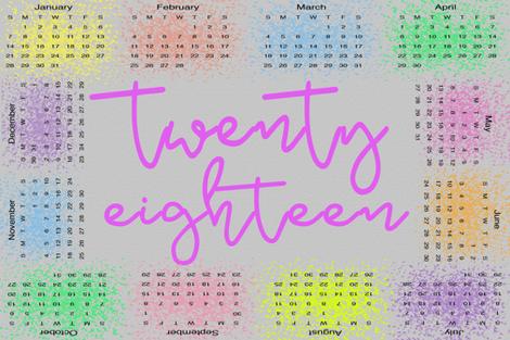 twentyeighteen calendar fabric by finn_emily on Spoonflower - custom fabric
