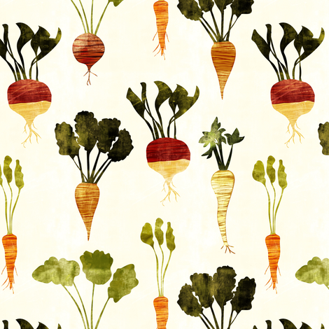 rustic veggies  fabric by littlearrowdesign on Spoonflower - custom fabric