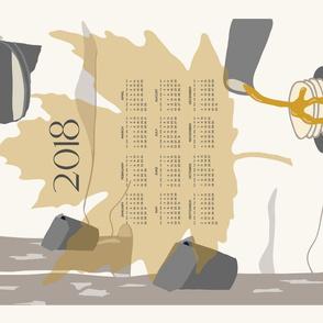 Sugar Maple Tea Towel 2018 Calendar