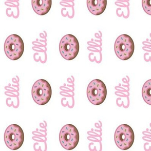 Donut vertical- PERSONALIZED pink Ellie