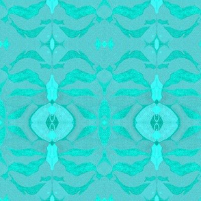 ASIAN MODERN DAMASK Iced Aqua