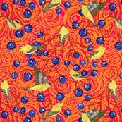 Goldfinches & grapes mod (orange)