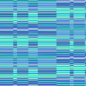 Bands of Stripes - Blue