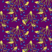 Goldfinches & grapes (purple)