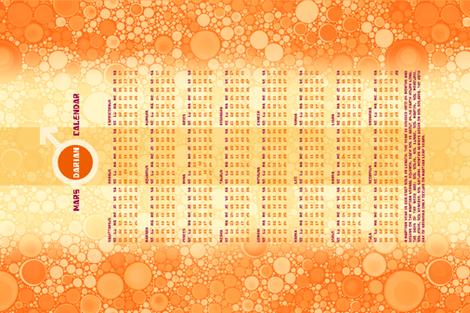 Mars 24 Month Calendar fabric by elramsay on Spoonflower - custom fabric