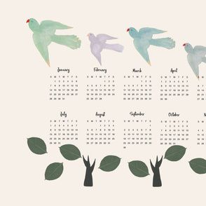 2018 Calendar Birds and Trees