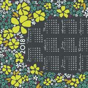 2018 Floral Tea Towel Calendar