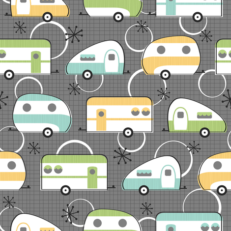 Happy Campers fabric by robyriker on Spoonflower - custom fabric