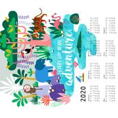 Jungle Adventure Tea Towel Calendar 2020