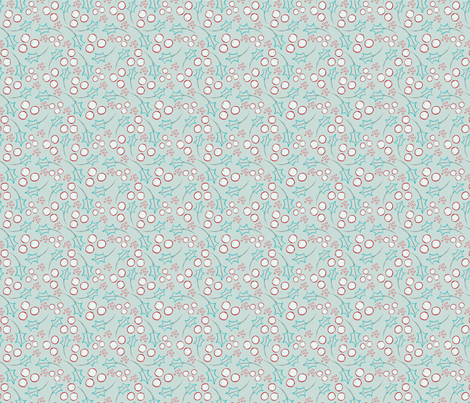 Holly Mint fabric by huffernickel on Spoonflower - custom fabric
