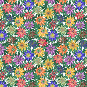 Pattern #78 - Passion Flowers (on green leaves) SM