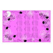 Pink Year 2018 Tea Towel Calendar