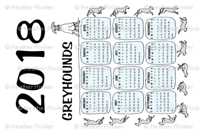 2018 Greyhound Calendar Repeat
