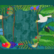Tropical Birds - 2018 Tea Towel