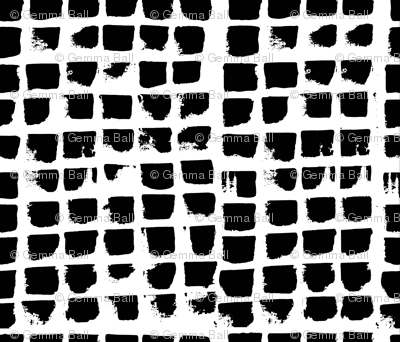 Abstract Brush strokes in black and white